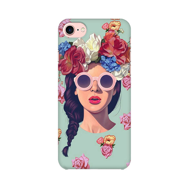 Apple iPhone 7 Floral Girl Phone Cover & Case