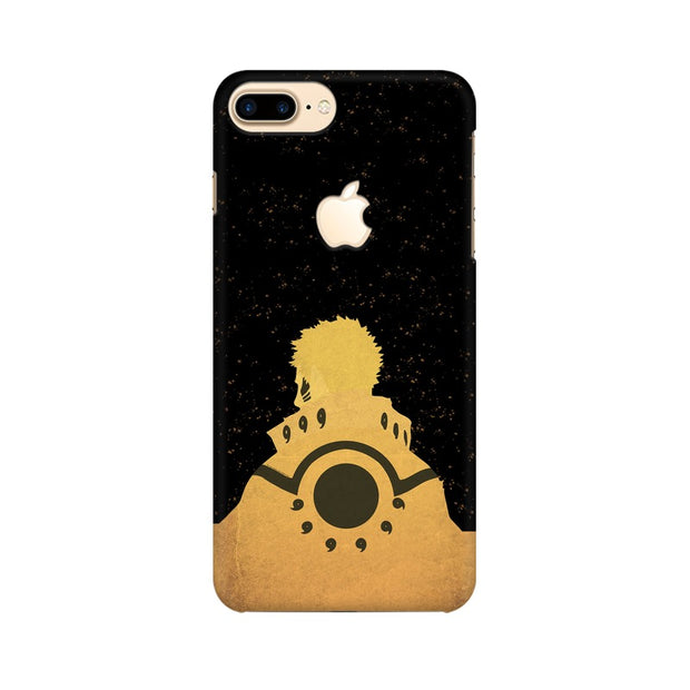 Apple iPhone 7 Plus with Apple Cut Naruto Outline Minimal Fan Art Phone Cover & Case