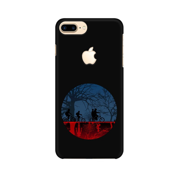 Apple iPhone 7 Plus with Apple Cut Stranger Things Fan Art Phone Cover & Case
