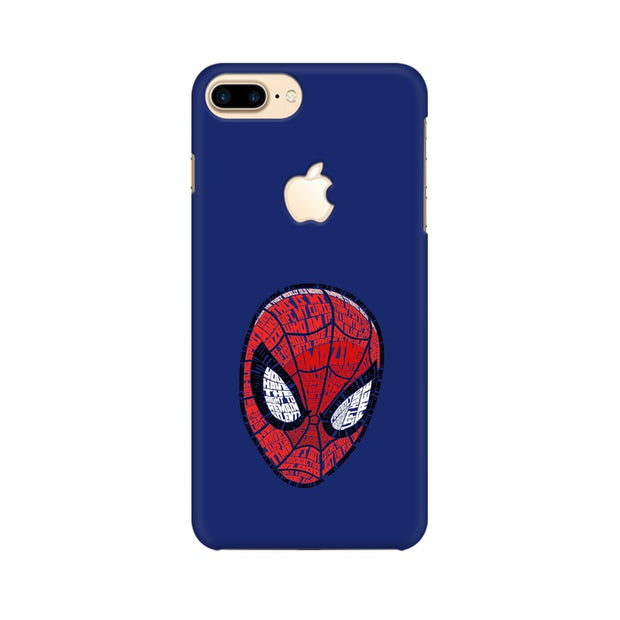 Apple iPhone 7 Plus with Apple Cut Spider Man Graphic Fan Art Phone Cover & Case