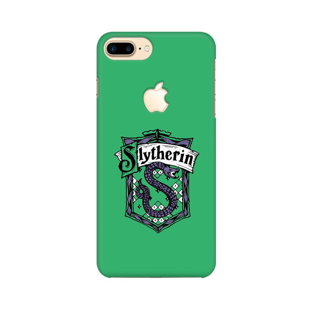 Apple iPhone 7 Plus with Apple Cut Slytherin House Crest Harry Potter Phone Cover & Case