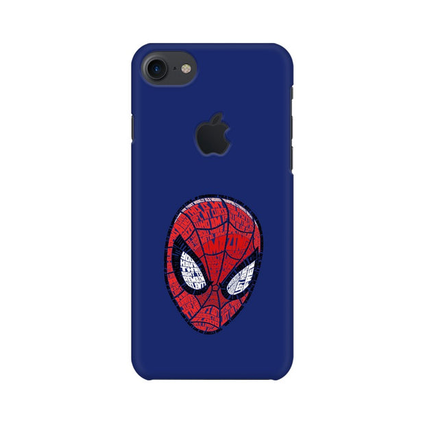 Apple iPhone 7 with Apple Cut Spider Man Graphic Fan Art Phone Cover & Case