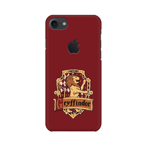 Apple iPhone 7 with Apple Cut Gryffindor House Crest Harry Potter Phone Cover & Case