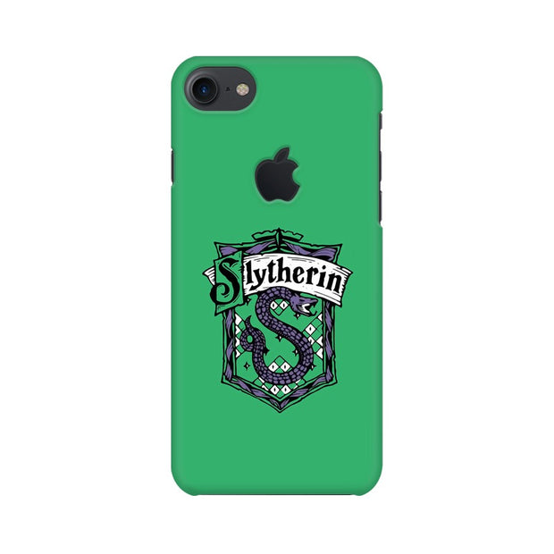 Apple iPhone 7 with Apple Cut Slytherin House Crest Harry Potter Phone Cover & Case