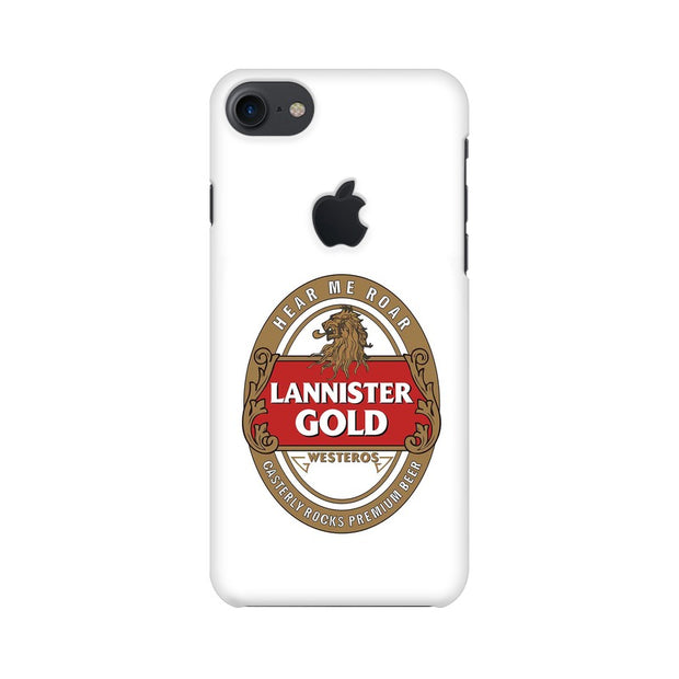 Apple iPhone 7 with Apple Cut Lannister Gold Game Of Thrones Cool Phone Cover & Case