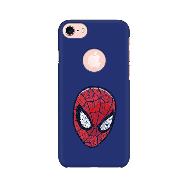 Apple iPhone 7 with Round Cut Spider Man Graphic Fan Art Phone Cover & Case