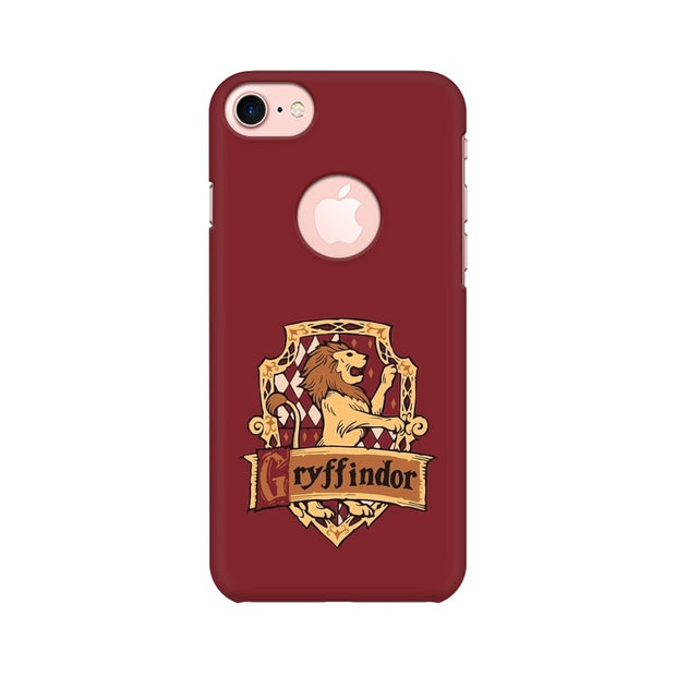 Apple iPhone 7 with Round Cut Gryffindor House Crest Harry Potter Phone Cover & Case