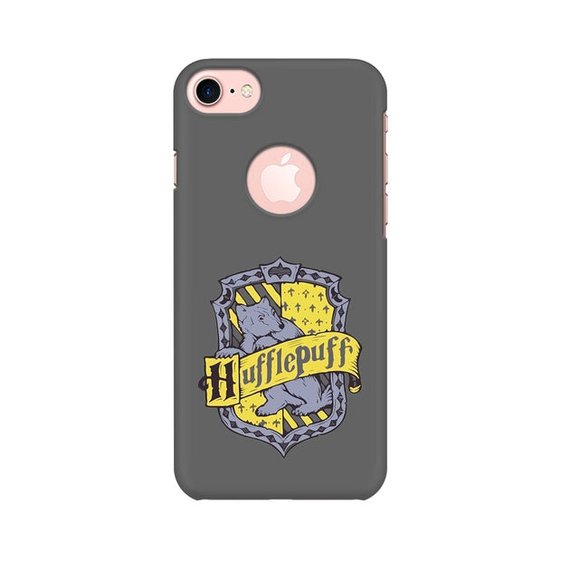 Apple iPhone 7 with Round Cut Hufflepuff House Crest Harry Potter Phone Cover & Case
