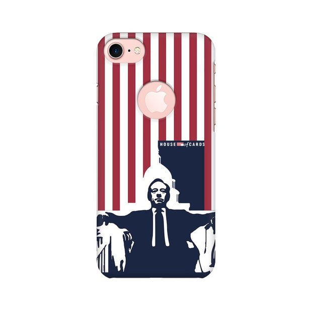 Apple iPhone 7 with Round Cut House Of Cards Underwood On Chair Phone Cover & Case