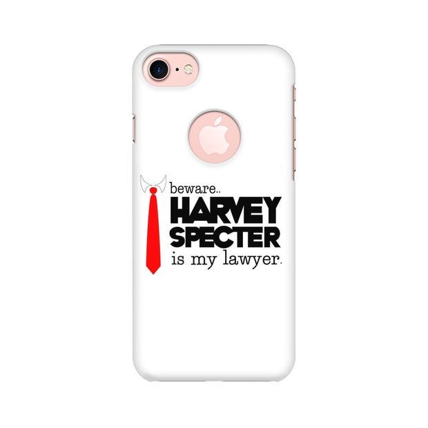Apple iPhone 7 with Round Cut Harvey Spectre Is My Lawyer Suits Phone Cover & Case