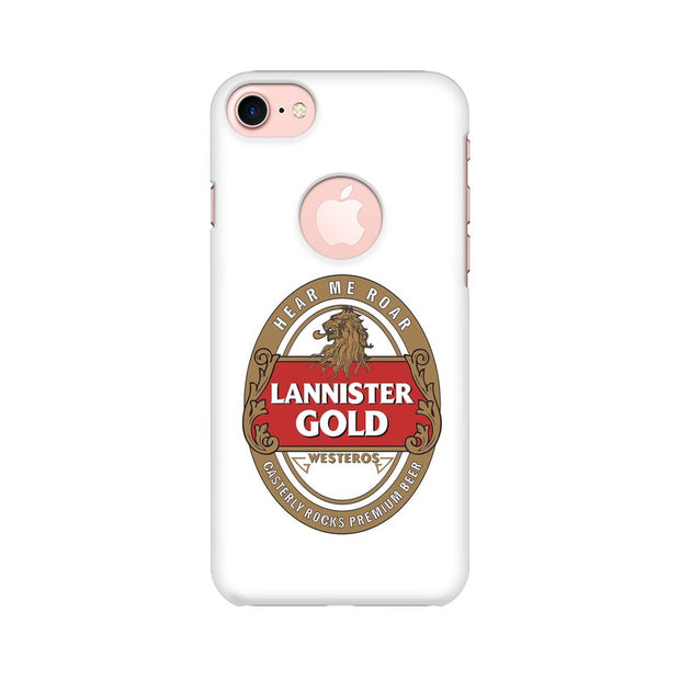 Apple iPhone 7 with Round Cut Lannister Gold Game Of Thrones Cool Phone Cover & Case