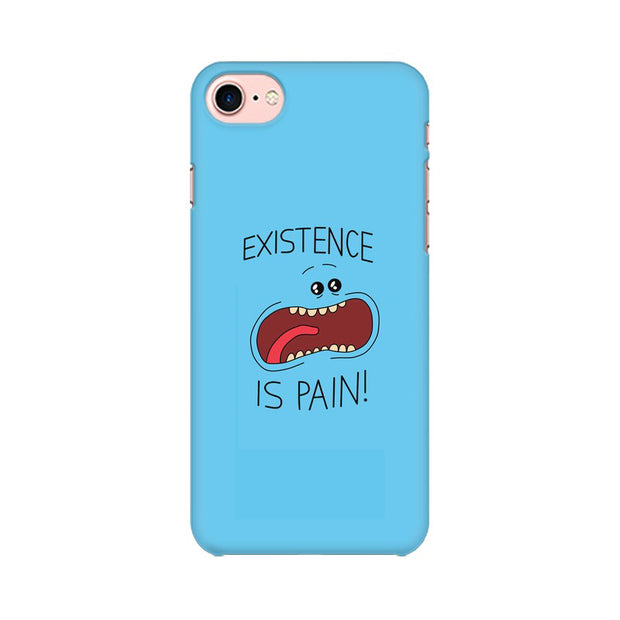 Apple iPhone 8 Existence Is Pain Mr Meeseeks Rick & Morty Phone Cover & Case