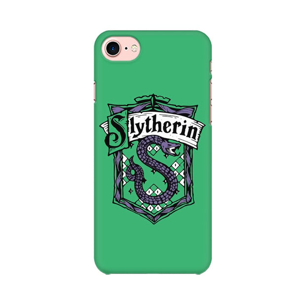 Apple iPhone 8 Slytherin House Crest Harry Potter Phone Cover & Case