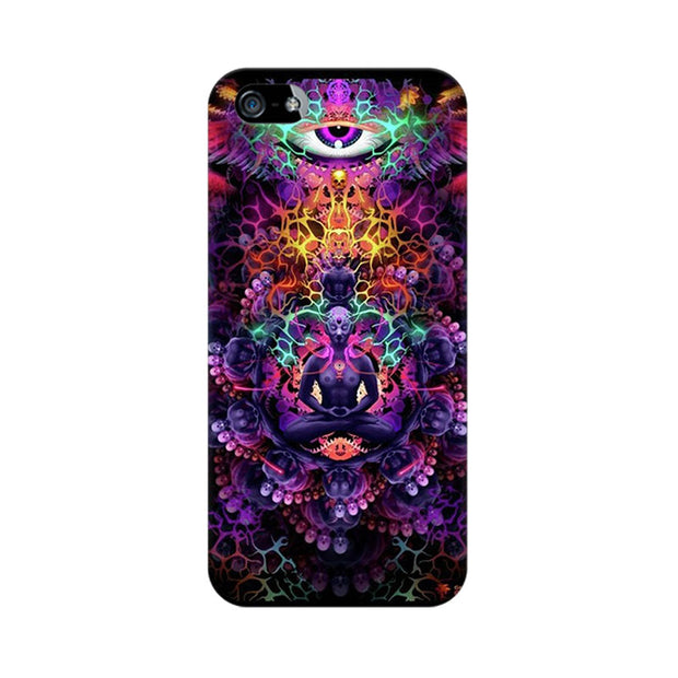 Apple iPhone SE Psychedelic Buddha Phone Cover & Case