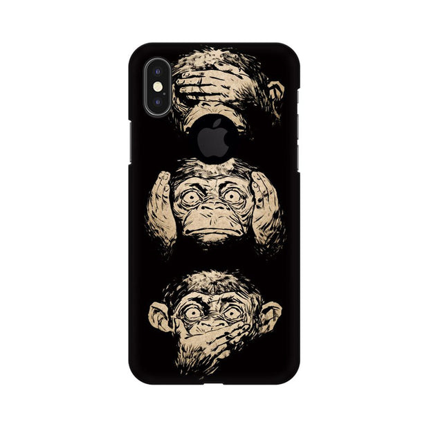 Apple iPhone X With Hole Three Wise Monkeys Phone Cover & Case