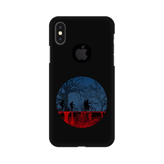 Apple iPhone X With Hole Stranger Things Fan Art Phone Cover & Case