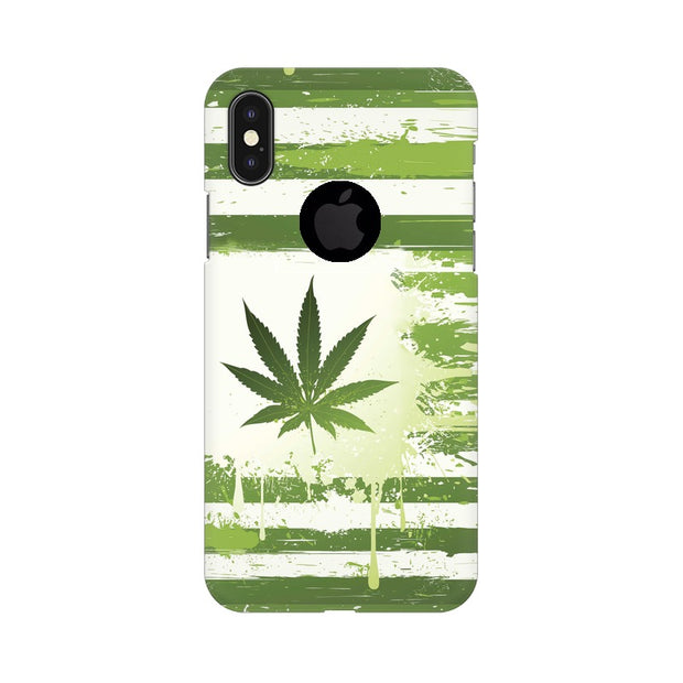 Apple iPhone X With Hole Weed Flag  Phone Cover & Case