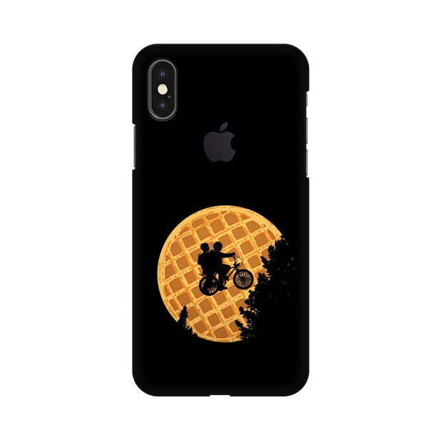 Apple iPhone X With Hole Stranger Things Pancake Minimal Phone Cover & Case