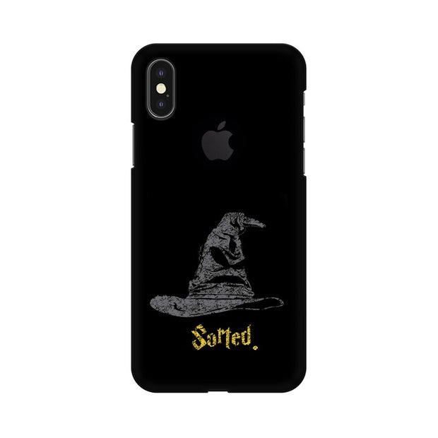 Apple iPhone X With Hole Sorting Hat Harry Potter Phone Cover & Case