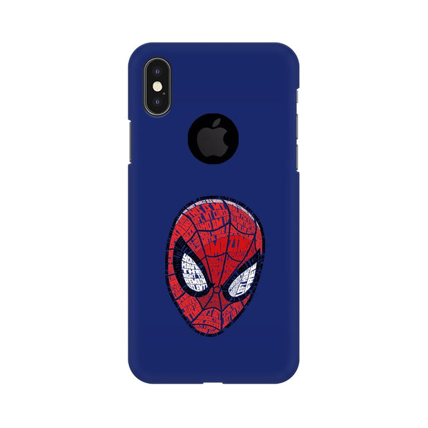 Apple iPhone X With Hole Spider Man Graphic Fan Art Phone Cover & Case