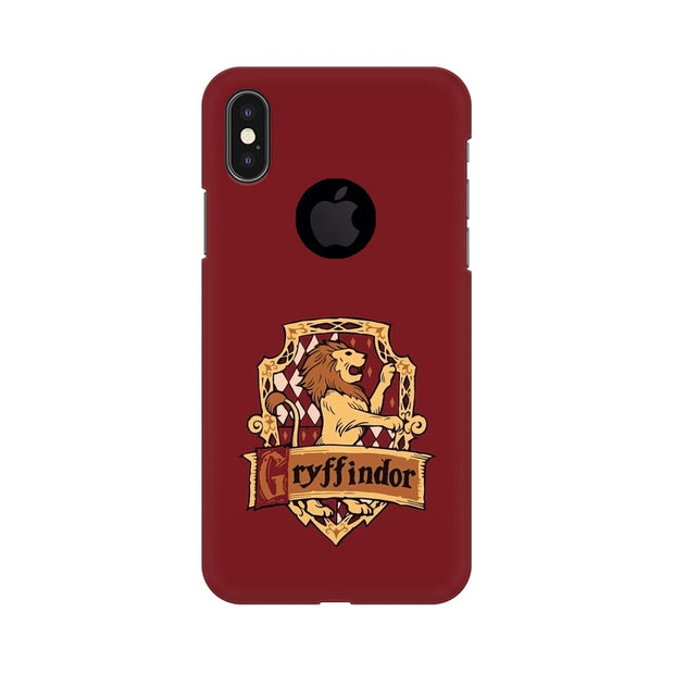 Apple iPhone X With Hole Gryffindor House Crest Harry Potter Phone Cover & Case