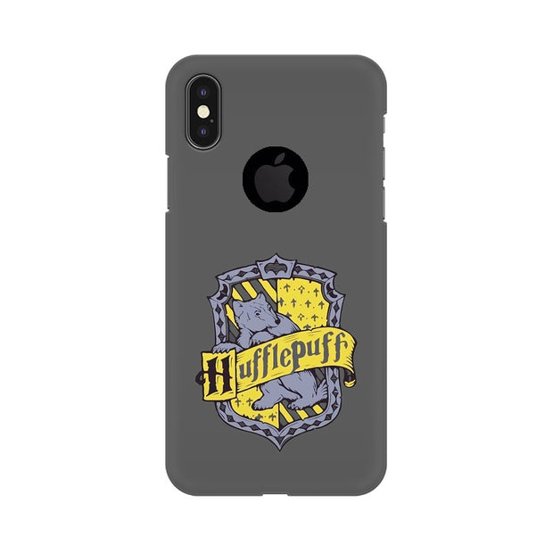 Apple iPhone X With Hole Hufflepuff House Crest Harry Potter Phone Cover & Case