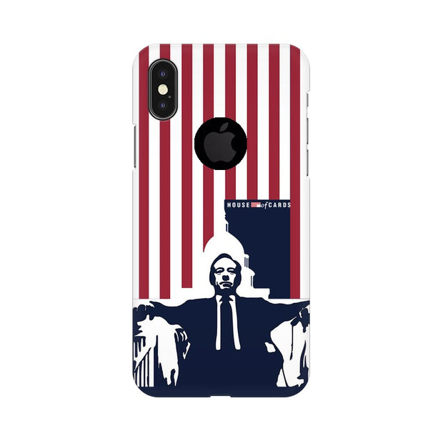 Apple iPhone X With Hole House Of Cards Underwood On Chair Phone Cover & Case