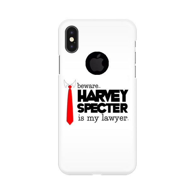 Apple iPhone X With Hole Harvey Spectre Is My Lawyer Suits Phone Cover & Case