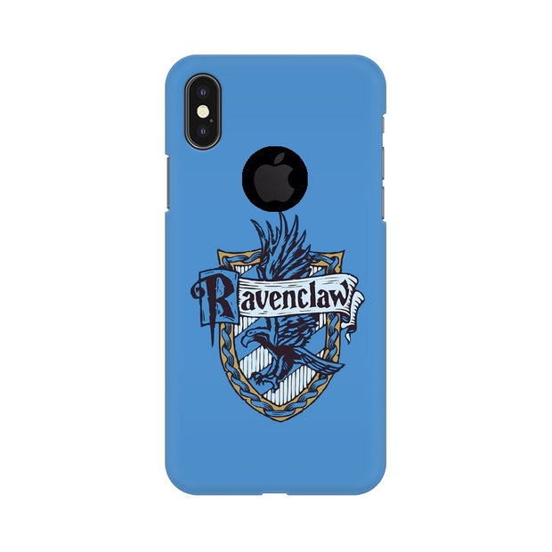 Apple iPhone X With Hole Ravenclaw House Crest Harry Potter Phone Cover & Case