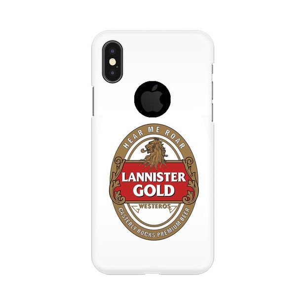 Apple iPhone X With Hole Lannister Gold Game Of Thrones Cool Phone Cover & Case