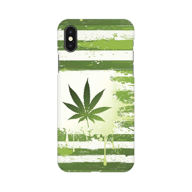 Apple iPhone X Weed Flag  Phone Cover & Case