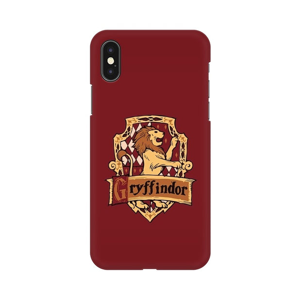 Apple iPhone X Gryffindor House Crest Harry Potter Phone Cover & Case