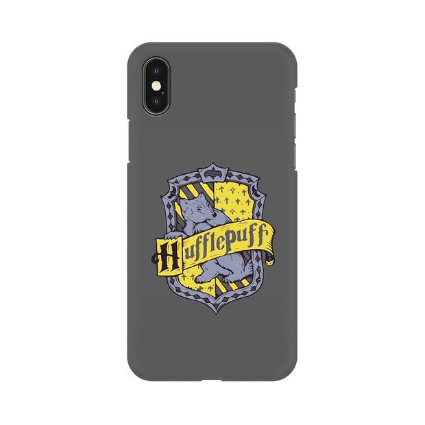 Apple iPhone X Hufflepuff House Crest Harry Potter Phone Cover & Case
