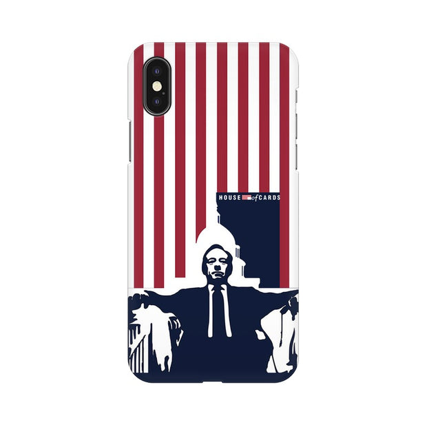 Apple iPhone X House Of Cards Underwood On Chair Phone Cover & Case