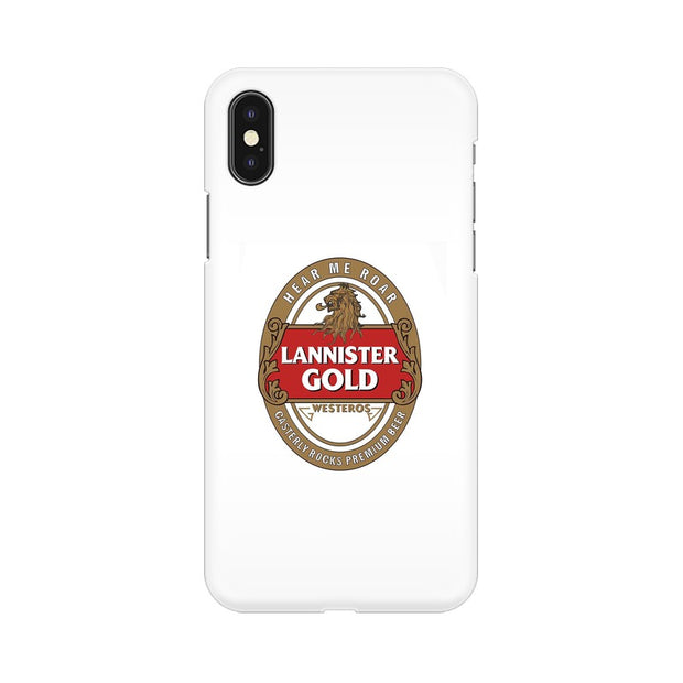 Apple iPhone X Lannister Gold Game Of Thrones Cool Phone Cover & Case