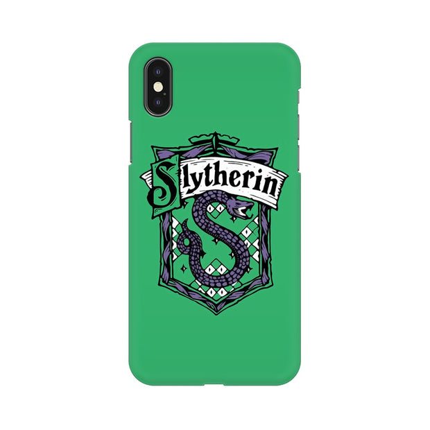 Apple iPhone X Slytherin House Crest Harry Potter Phone Cover & Case