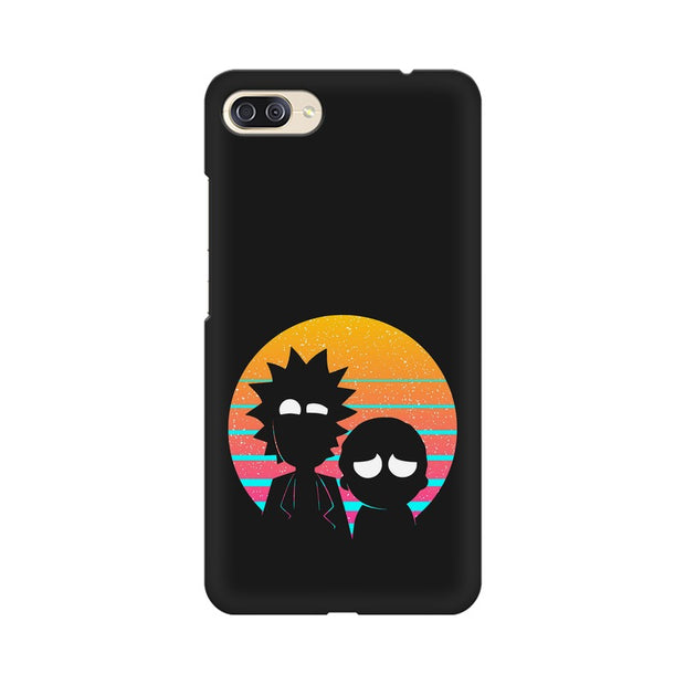 Asus Zenfone 4 Max ZC554KL Rick & Morty Outline Minimal Phone Cover & Case
