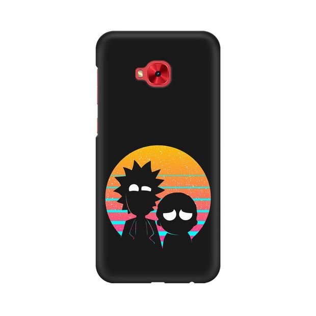 Asus Zenfone 4 Selfie Pro ZD552KL Rick & Morty Outline Minimal Phone Cover & Case