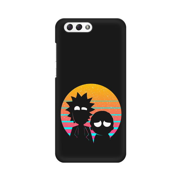Asus Zenfone 4 ZE554KL Rick & Morty Outline Minimal Phone Cover & Case