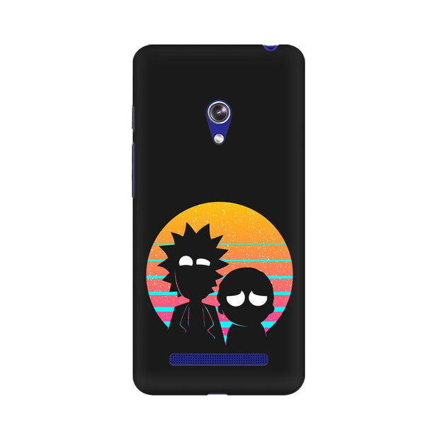 Asus Zenfone 5 Rick & Morty Outline Minimal Phone Cover & Case