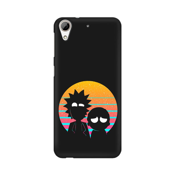 HTC Desire 626 Rick & Morty Outline Minimal Phone Cover & Case