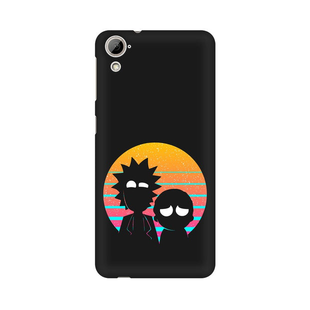 HTC Desire 820 Rick & Morty Outline Minimal Phone Cover & Case