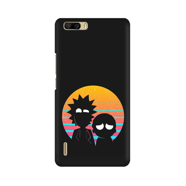 Huawei Honor 6 Plus Rick & Morty Outline Minimal Phone Cover & Case