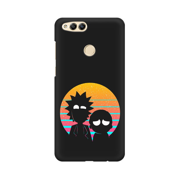 Huawei Honor 7X Rick & Morty Outline Minimal Phone Cover & Case