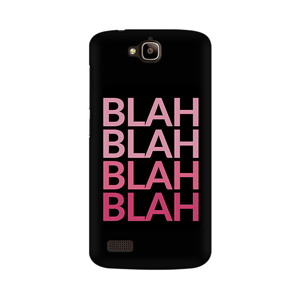Huawei Honor Holly Blah Blah Pink Phone Cover & Case