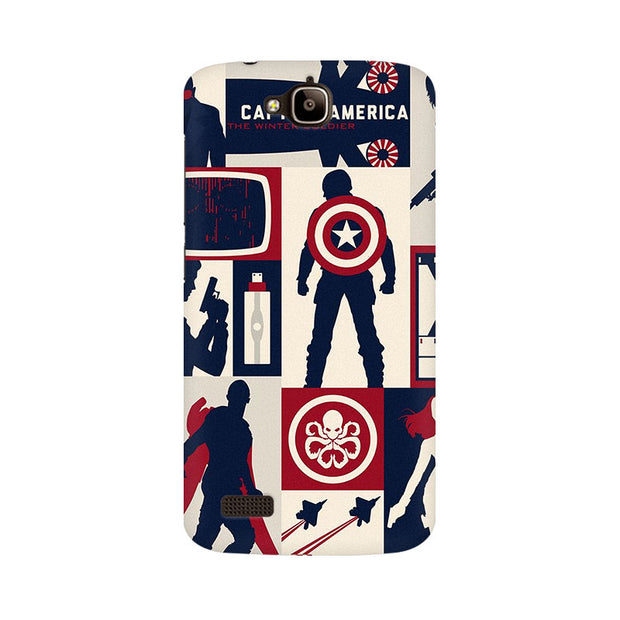 Huawei Honor Holly Captain America Collage Phone Cover & Case