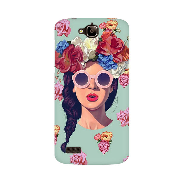 Huawei Honor Holly Floral Girl Phone Cover & Case