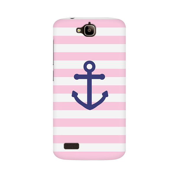 Huawei Honor Holly Pink Anchor Phone Cover & Case