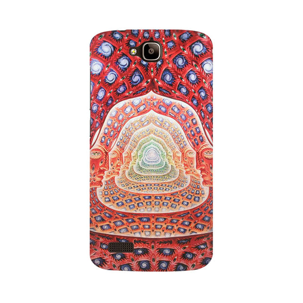 Huawei Honor Holly Psychedelic Faces On The Wall Phone Cover & Case