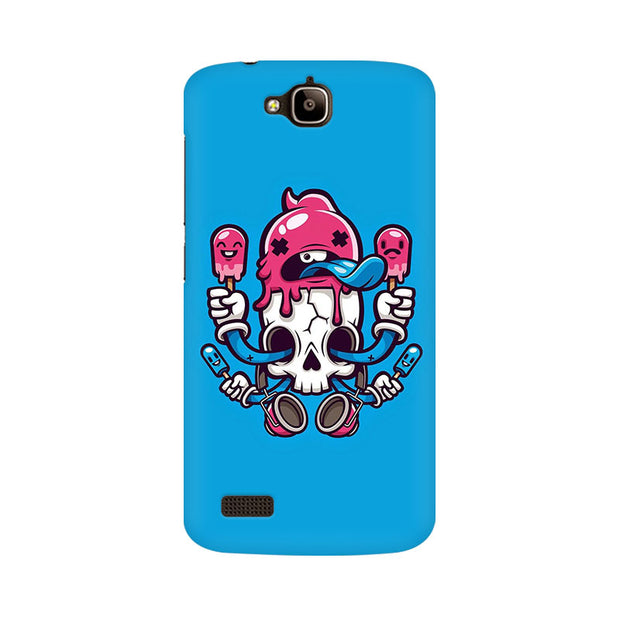 Huawei Honor Holly Skull Cream Phone Cover & Case